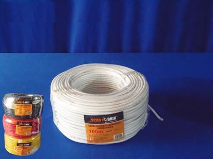Foto de Cable electric 100m 10awg-127v scan 0.25mm Negro
