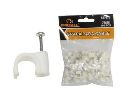 Foto de Grapa cable 7mm plastica 100pcs