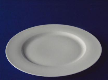 """Foto de Plato porcelana plano 10.5"""" blanco"""