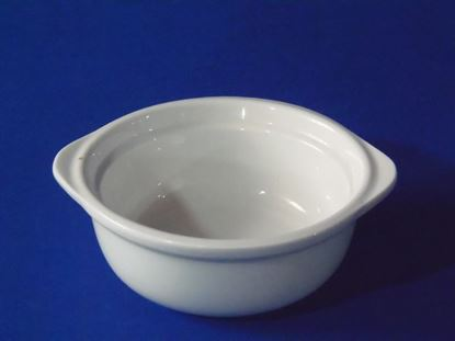 "Foto de Tazon dip c/oreja porcelana 5"" blanco"