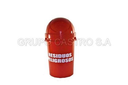 Foto de Papelera 80 Cosmos vaiven Rojo Residuos peligrosos rey PPX040089