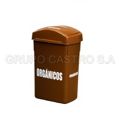 Foto de Papelera rectangular  30 rey organico
