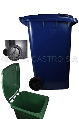 Foto de Container c/ruedas 240ltr plástico