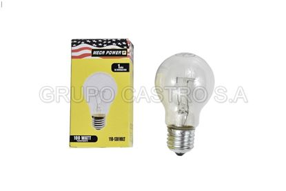 Foto de Bombillo MEGAPOWER E27 100watt luz trasparente clear MP100C