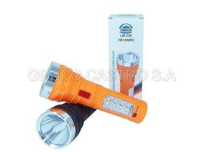 Foto de Foco recargable  Lumiled 1 LED y lampara