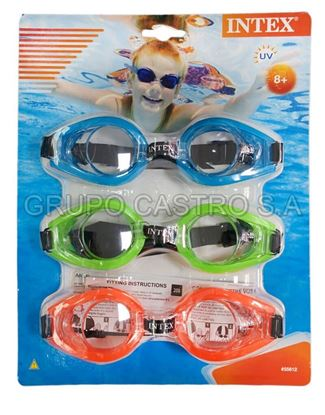 Foto de Set 3 lentes buceo blister junior  Intex