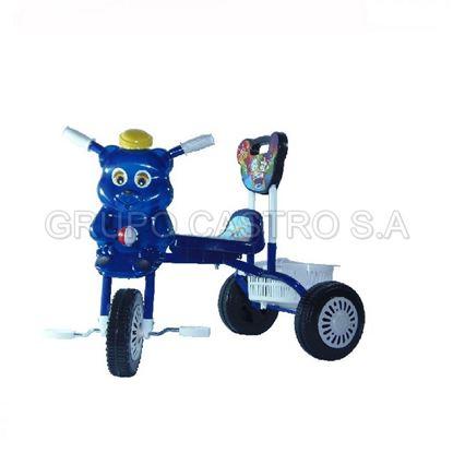 Foto de Triciclo para bebe con respaldar azul GL-7021