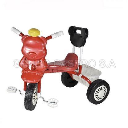 Foto de Triciclo para bebe con respaldar rojo GL-7021