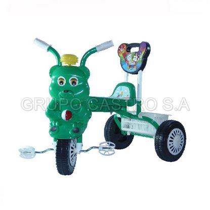 Foto de Triciclo para bebe con respaldar verde GL-7021
