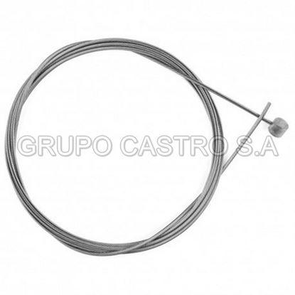 """Foto de Cable de freno trasero sin forro c/m 65"""" 37x12F"""
