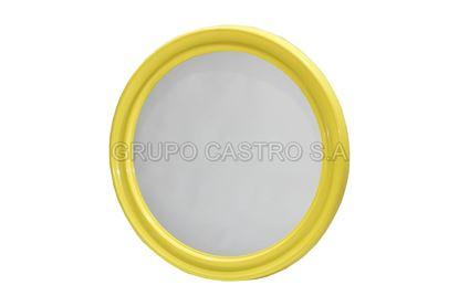 Foto de Espejo redondo  58cms c/marco plástico