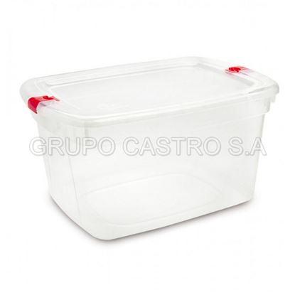 Foto de Caja megaforte # 80 c/tapa broche 61 litros Rey