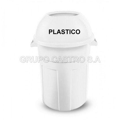 Foto de Tacho Rey 140 c/t Logo plástico blanco