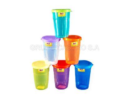 Foto de Vaso comercial con tapa rey