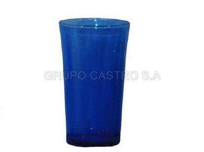 Foto de Vaso vidrio azul 12 onz