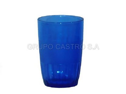 Foto de Vaso vidrio azul 8 onz CHS909B
