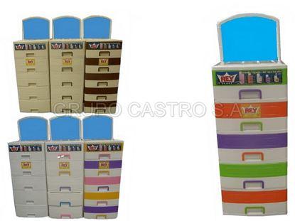 Foto de Cómoda gigante 5 gavetas  (espejo) rey multicolor mujer