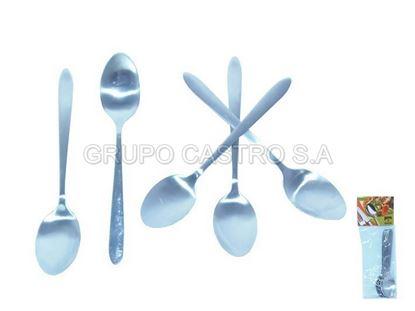 Foto de Set 6 cucharita Stainless steel Acero CasaBella Ref.YDM011-009