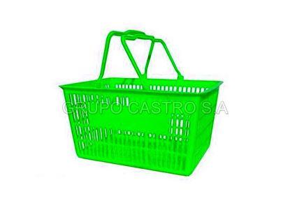 Foto de Canasta Plástica c/agarrad plastica verde
