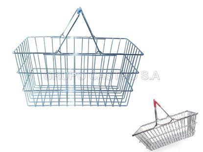 Foto de Canasta supermercado metalica