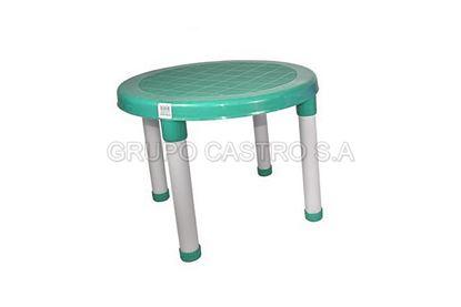 Foto de Mesa clarisol  niña verde agua tacoplas plástico