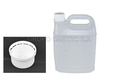 Foto de Envase 1 galon #3 rectangular estrias Industrial 7217047700 salvaplast130 gramos