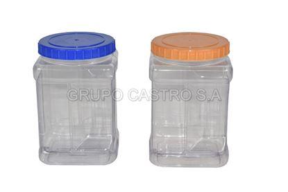 Foto de Envase dulcero rectangular  c/tapa 2ltr