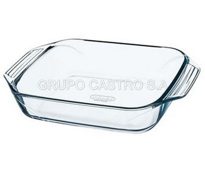 Foto de Bandeja cuadrado vidrio pairex
