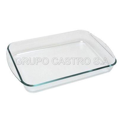 Foto de Bandeja pairex rectangular vidrio