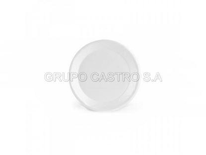 """Foto de Plato p/tortilla vidrio blanco Temperado 7.5"""" ref. 5343"""