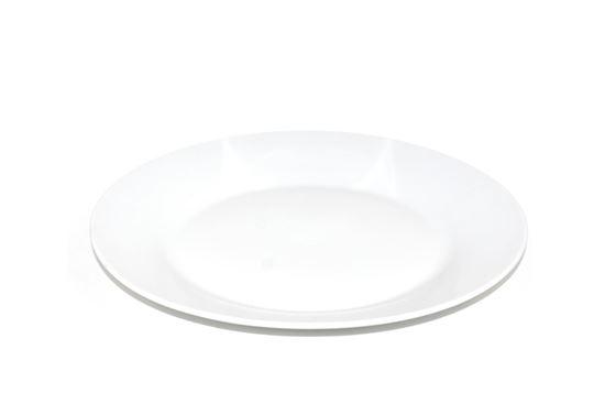 "Foto de Plato porcelana plano blanco  9 ""redondo casa bella"
