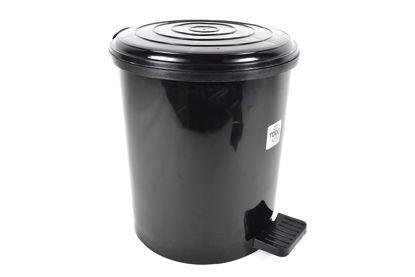 Foto de Basurero pedal 15 litros negro  tacoplast plástico