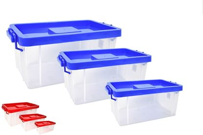 Foto de Set de cajas multiusos peq/med/gde