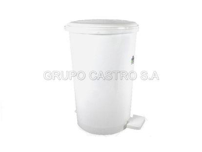 Foto de BASURERO PEDAL #3 25 LTRS 53x29cm BLANCO 82735 TACOPLAST PLASTICO