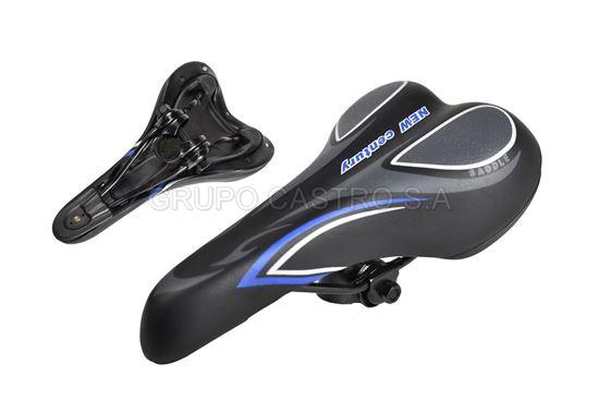 Foto de Asiento bicicleta 24*14.5MM blue