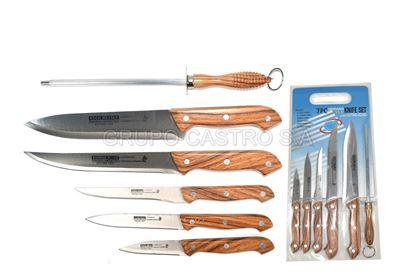 Foto de Set tabla - cuchillos 7piezas german style