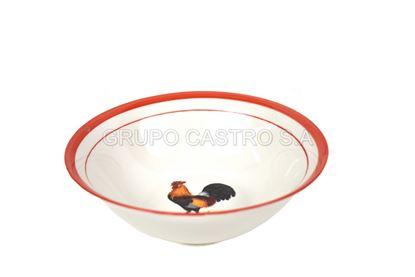 "Foto de Dulcera porcelana 7"" gallo  lotus"