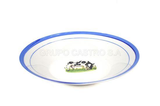 """Foto de Plato porcelana hondo vaca 9""""  lotus"""