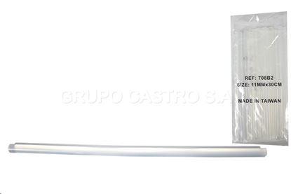 Foto de Empaque barra silicona  7.2mmX30cm (60piezas) delgada
