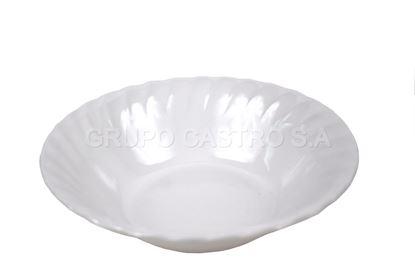 "Foto de Dulcera bowl blanco 8"" melamina"