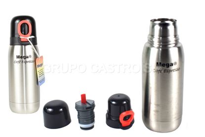Foto de Thermo Cafe MEGA Acero Inoxidable c/flip top 0.35litros