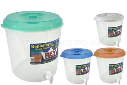 Foto de Repostero gigante 18 litros c/chorro y medidas