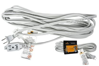 Foto de Extension blanca brickell 20FT 16AWG 6mts