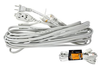 Foto de Extension blanca  brickell 25FT 16AWG 7.5mts