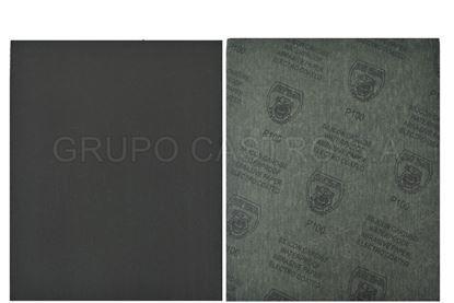 Foto de Lija 100 negro impermeable 230X280mm Pitbull