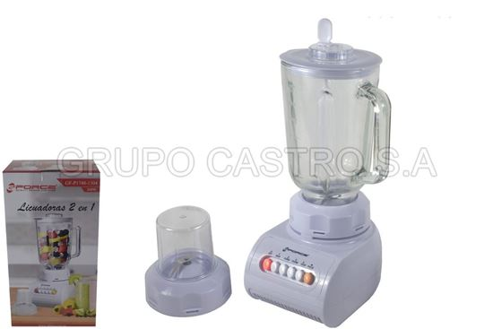 Foto de Licuadora force frasco de vidrio  2 en 1