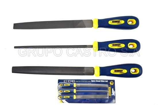 Foto de Set limas 3 pcs metal 8´´200mm  t12 kennedy
