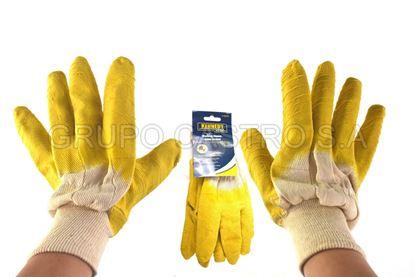 Foto de Guante industrial latex amarillo kennedy 10 xl