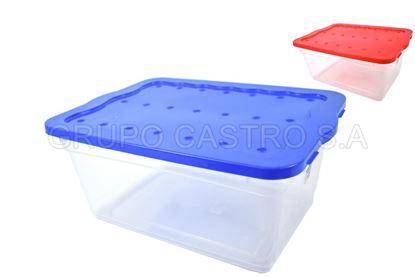 Foto de Caja rectangular 15ltr multiusos plástico