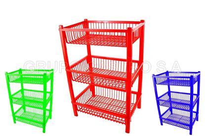 Foto de Organizador cocina 3 niveles tacoplast plástico
